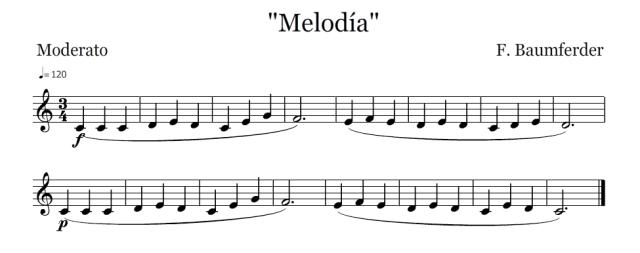 Melodía (F.Baumferder)
