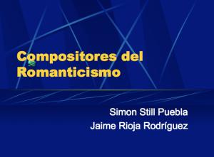 CompositoresRomanticismo